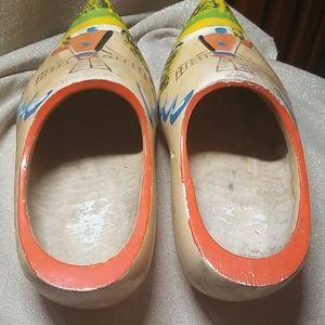 Vintage Accents - Vintage Pair Dutch Wooden Shoes
